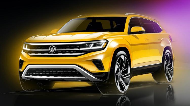 Volkswagen Atlas раскрывают подробности будущего кроссовера